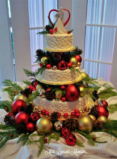 wedding wednesday  christmas wedding cake mustang