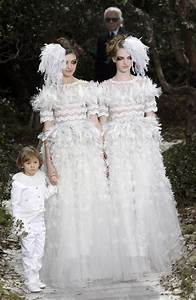 karl lagerfeld debuts lesbian couture With lesbian wedding dresses