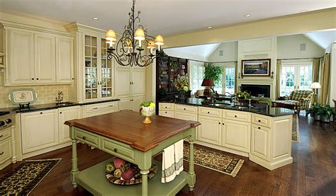 Sage Green Kitchen Cabinets With Black Appliances by English Country Beauty