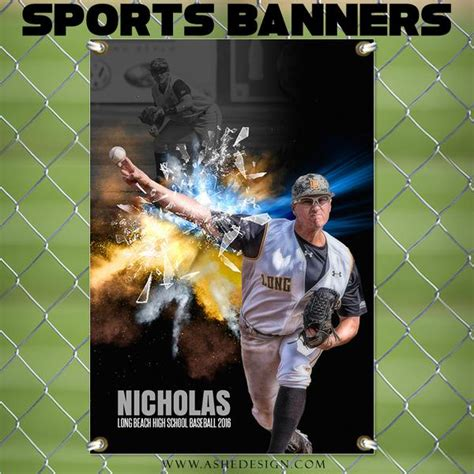 ashe design photoshop template  sports banner