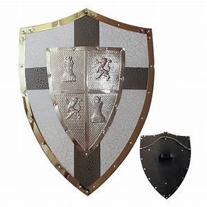 Medieval Style Shield Knight Armor Steel with Cross ...