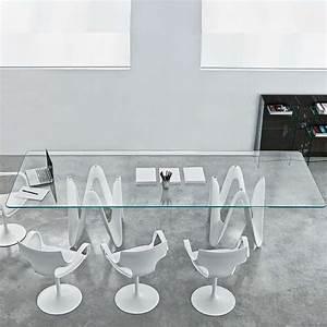 Table à Manger En Verre : table de salle manger design en verre 320 x 120 cm lambda sovet 4 ~ Teatrodelosmanantiales.com Idées de Décoration
