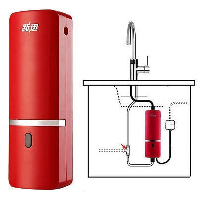 details  instant hot electric water heater kitchen