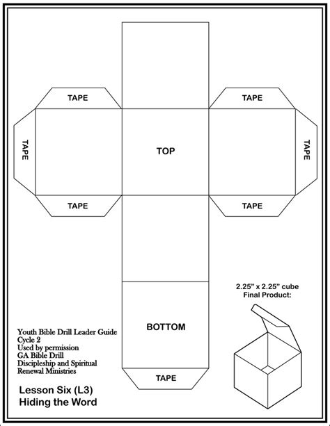 Cube Template 4 Best Images Of Printable Cube Template 4 Inches Free