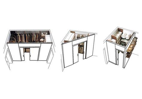 tanti modi  realizzare la cabina armadio dietro al letto