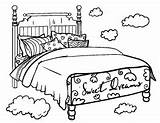 Coloring Bed Pages Bedtime Colouring Clipart Printable Coloringcafe Pdf Sheet Printables Bedroom Beds Cartoon Sheets Template Furniture Clip Adult Transparent sketch template