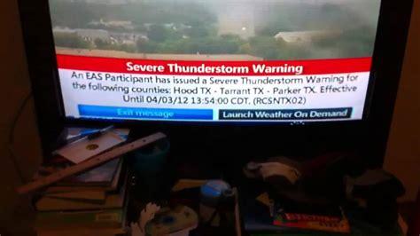 real eas  severe thunderstorm warning  tv youtube