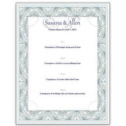 free wedding menu templates best photos of menu templates free wedding menu design template free wedding menu