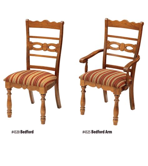 bedford amish dining chair amish dining room furniture