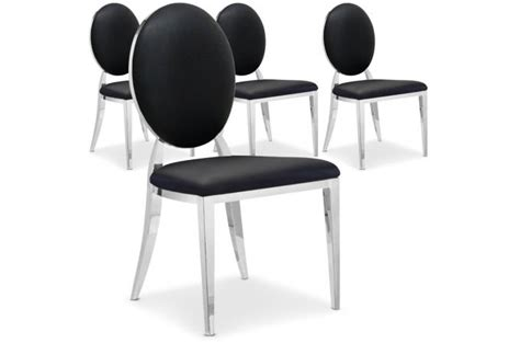 lot de 4 chaises pas cher lot de 4 chaises sofia noir chaise design pas cher