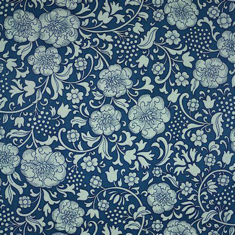 original blue floral wallpaper retro vintage