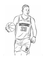 Coloring Nba Griffin Blake Pages Sports sketch template