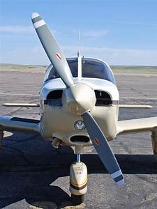 Propeller And Airplane Nose Close Up Stock Image