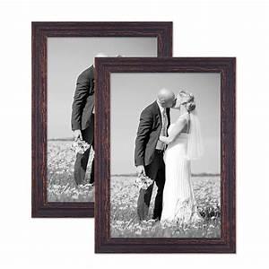 Bilderrahmen Vintage Set : 2er set vintage bilderrahmen 30x40 cm holz dunkelbraun shabby chic massivholz mit glasscheibe ~ Buech-reservation.com Haus und Dekorationen