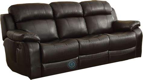 Recliner Sofa With Console by Marille Black Reclining Sofa With Center Drop