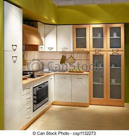 cuisine carree carrée cuisine moderne bois grand compteur cabinet
