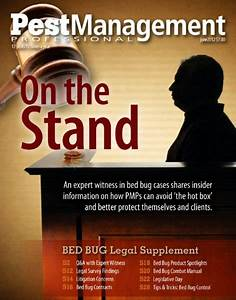 Campbell quoted in pest industry magazine campbell law for Bed bug litigation