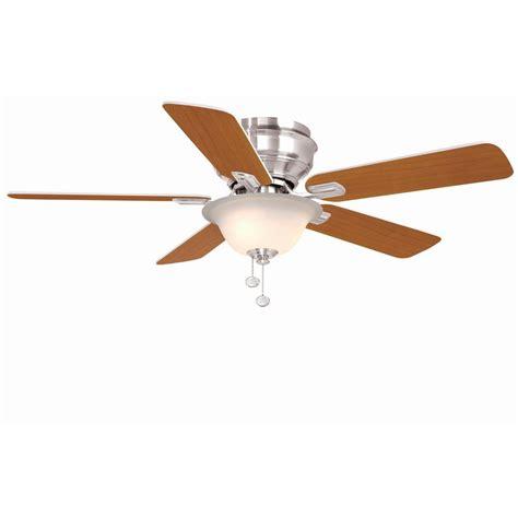 hton bay fan extension rod hton bay waterton ii 52 in indoor brushed nickel