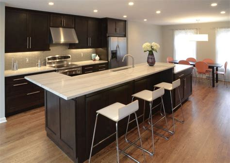 how to countertop to match espresso cabinets