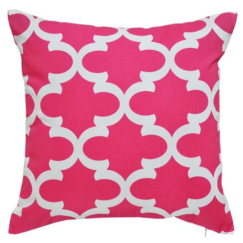 Black Bench Cushion by Fynn Candy Pink Cushion 45x45cm Hupper
