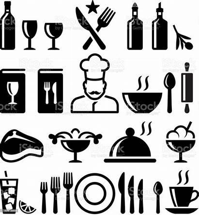 Restaurant Icon Dining Fine Clip Vectors Clipart