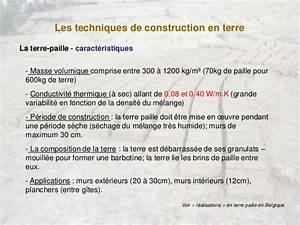 Masse Volumique Terre Végétale : architectures de terre crue sophie bronchart conf rence ~ Melissatoandfro.com Idées de Décoration