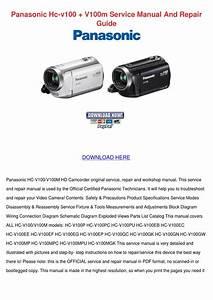 Panasonic Hc V100 V100m Service Manual And Re By