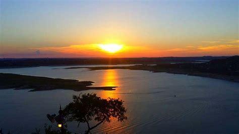 oasis texas brewing company austin texas sunset