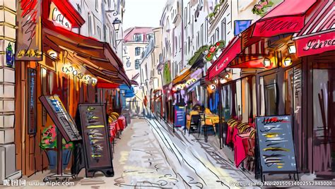 chambre des commerces arras 手绘巴黎街景设计图 绘画书法 文化艺术 设计图库 昵图网nipic com