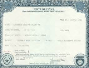 Texas Birth Certificate