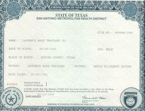 how do i get a long form birth certificate 10 best photos of texas birth certificate form texas