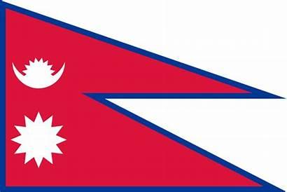 Nepal Flag Ratio Aspect Stretched Svg Wikimedia
