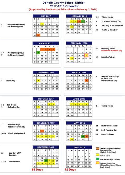 dekalb county school district calendar places
