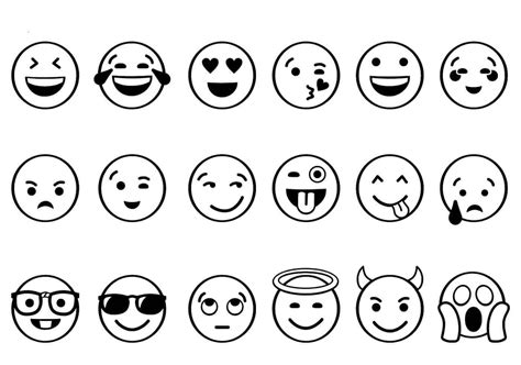 printable emoji coloring pages
