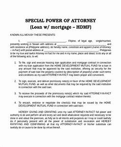 15 power of attorney templates free sample example With special power of attorney template free