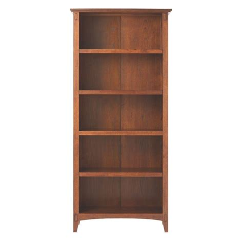 Home Bookcases by Home Decorators Collection Artisan Medium Oak Open