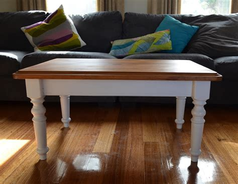 The most common country coffee table material is cotton. Retro Vintage Love: French country provincial style white and timber coffee table- cute as a button!