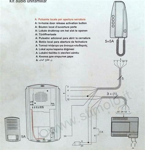 videocitofono swing bticino bticino 363211 kit citofono monofamiliare 5 fili