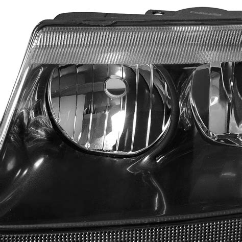 jeep black headlights 99 04 jeep grand cherokee replacement crystal headlights