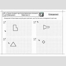 Ks3 Enlargement By A Scale Factor Worksheet By Jlcaseyuk  Teaching Resources Tes