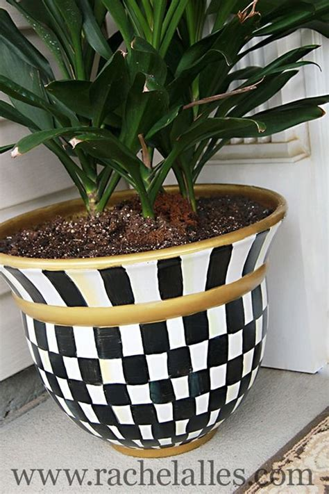 Big White Planters by Plastic Or Ceramic Pot Painted To Look Funky Won T Be
