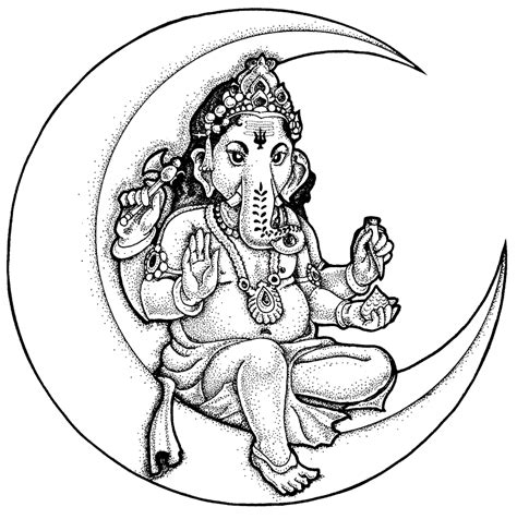 ganesh colouring pictures coloring pages