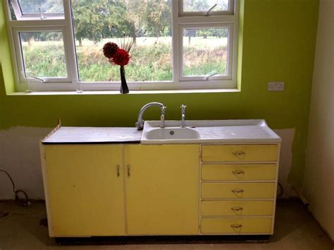 ORIGINAL RETRO 1950'/60'S KITCHEN SINK UNIT AND DRAWERS
