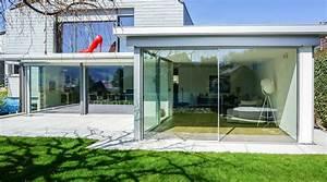 Glasschiebewand Selber Bauen : flachdach wintergarten ~ Eleganceandgraceweddings.com Haus und Dekorationen