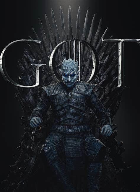 wallpaper night king game  thrones season  final