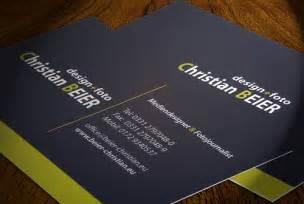 die neuen visitenkarten sind da christian beier - Visitenkarten Design