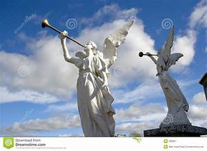 Two Stone Angels Royalty Free Stock Photography - Image ...