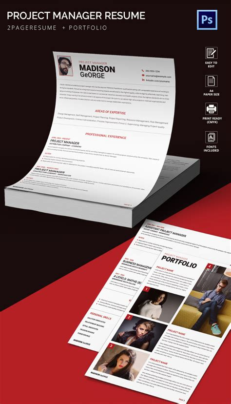 Creative Project Manager Resume by Creative Resume Template 81 Free Sles Exles Format Free Premium Templates