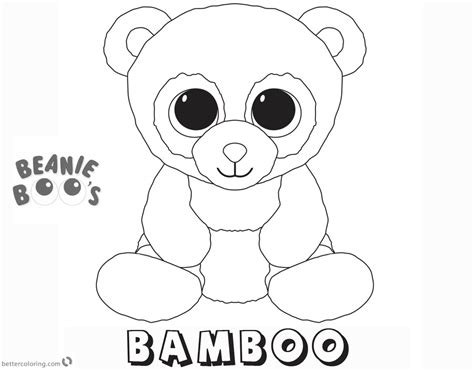 Kleurplaat Beanie Boo by Beanie Boo Coloring Pages Bamboo Free Printable Coloring