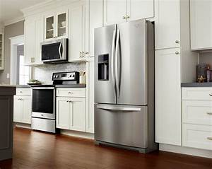 latest trends in kitchen appliances are white appliances With kitchen colors with white cabinets with trend stickers